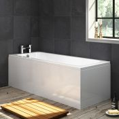 New (L3) 1700x700mm Square Single Ended Bath. RRP £299.99.Length: 1700mm No tap Hole, Sing...