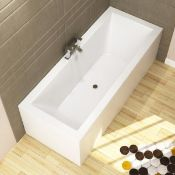 New (L1) 1700x700mm Square Double Ended Bath. RRP £449.99. This Double ended Bath is Perfect f...