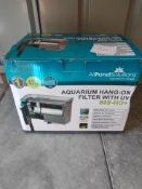 All pond solutions aquarium hang on filter with uv 800-HO+ - RRP £40 Grade U
