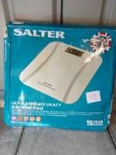 Salter Ultimate accuracy electronic scales Ð RRP £29.99 Grade U