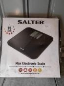 Salter max electronic scales RRP £24.99 Grade U