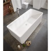 New (M2) 1600x800mm Double Ended Bath Is A Quintessential Stone Resin Freestanding Bath. It's C