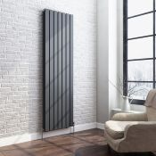 New 1800x532mm Anthracite Double Flat Panel Vertical Radiator. RRP £499.99. Rc264. Made From
