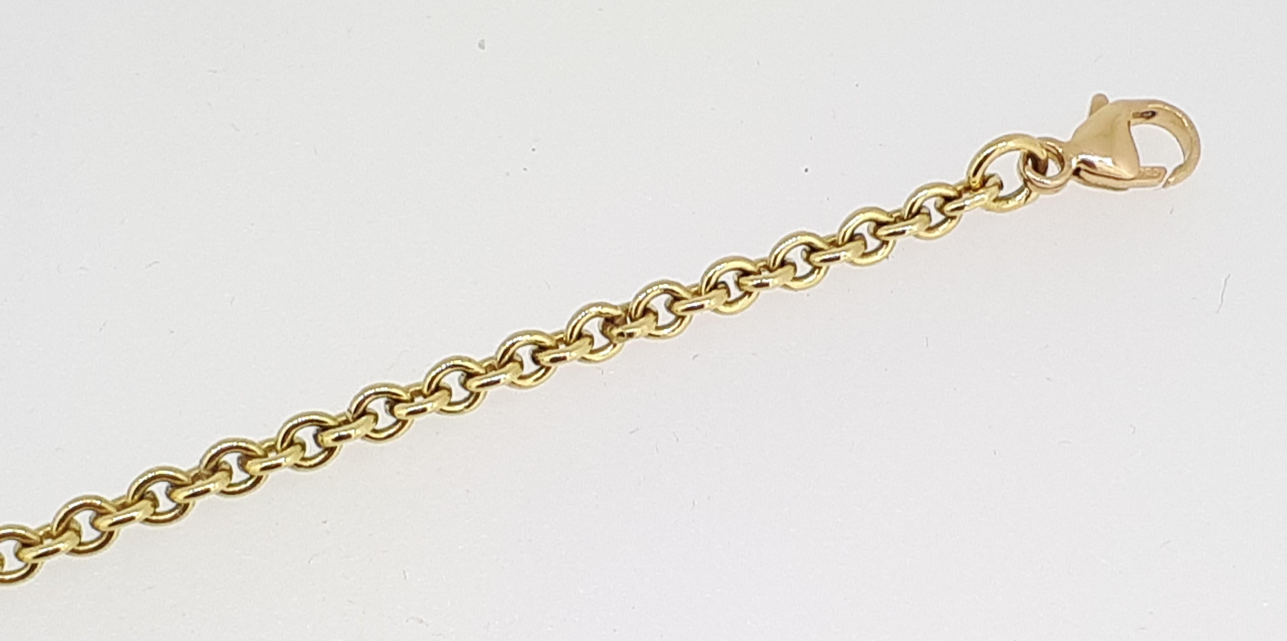 """18ct Yellow Gold (750) Round Belcher Bracelet - 7.5"""" / 19cm"""