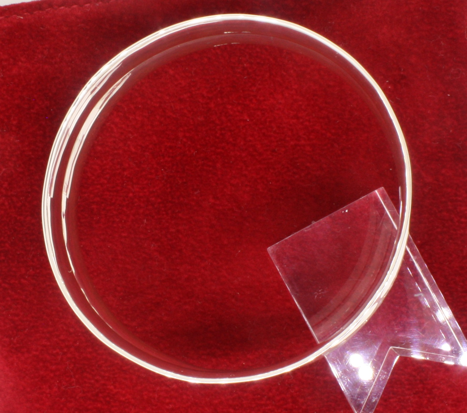 Sterling Silver Handmade Double Concave Wide Bangle - Image 4 of 4