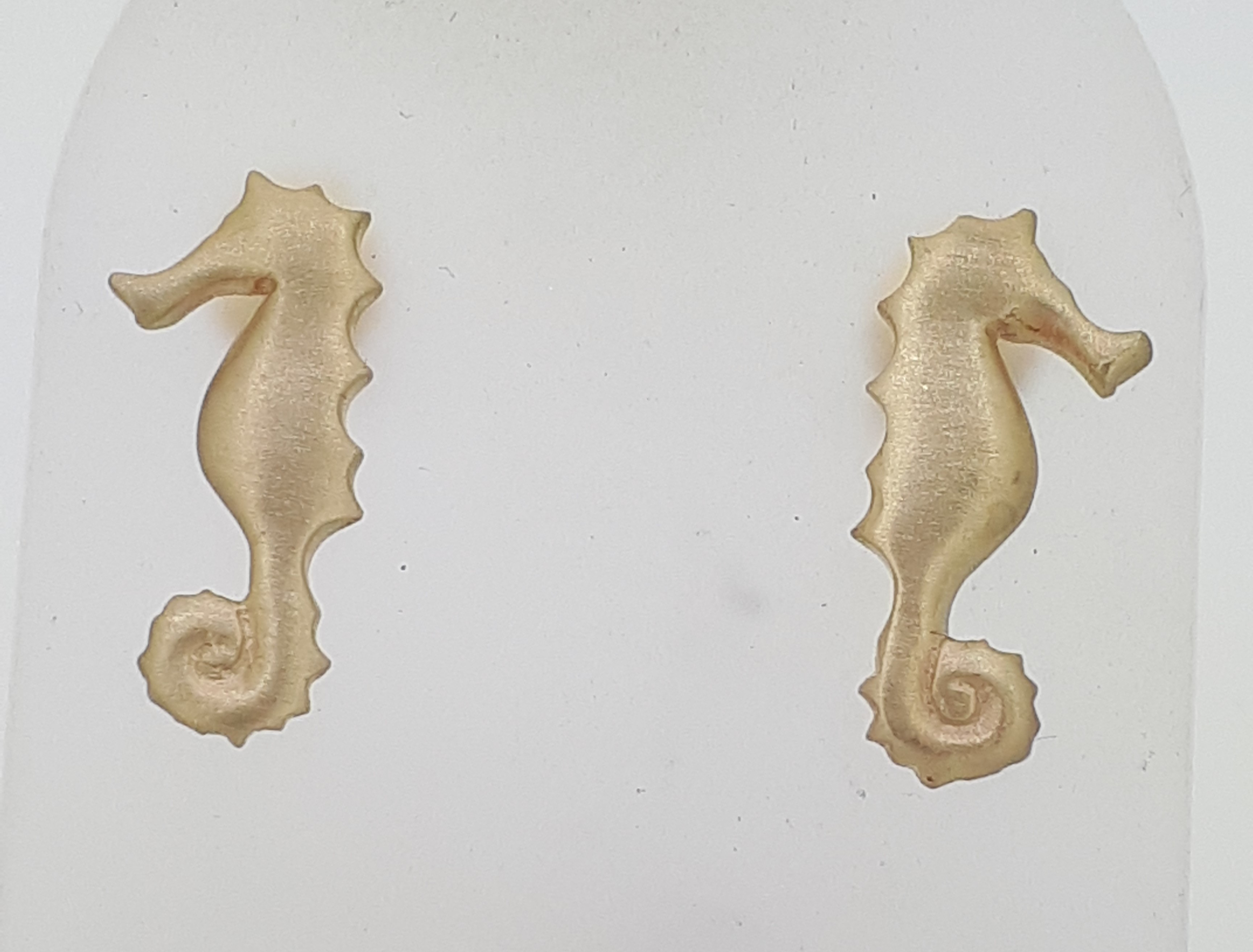 9ct (375) Yellow Gold Seahorse Stud Earrings