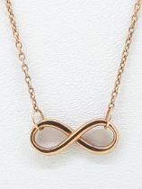 9ct (375) Rose Gold Infinity Loop Necklace