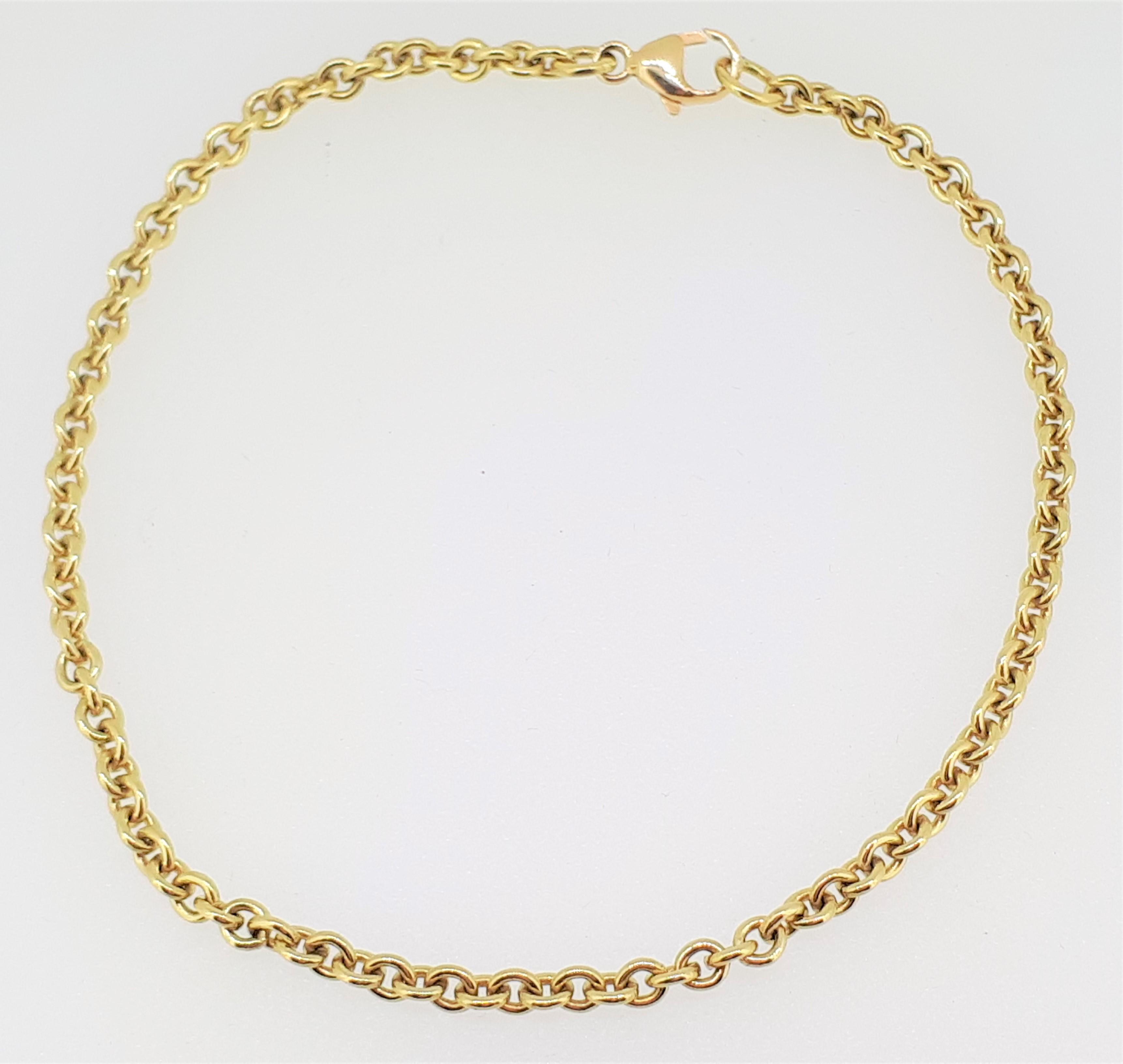 "18ct Yellow Gold (750) Round Belcher Bracelet - 7.5"" / 19cm - Image 2 of 2"