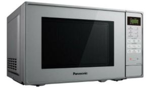(R5L) Household. 1x Panasonic Silver Microwave 800W 20L (NN-E28JMM) & 1x Russell Hobbs Black Micr