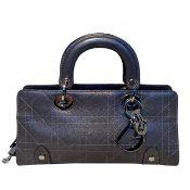 Christian Dior Pewter Lady Dior Handbag
