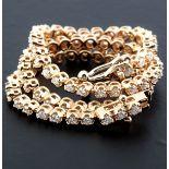HRD Antwerp Certified 0,91 Ct. Diamond Tennis Bracelet 14K   4,00 g Pink Gold 0,91 Ct. H/Vs