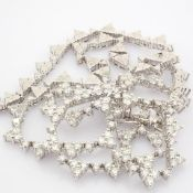 HRD Antwerp Certified 14K White Gold Diamond Necklace (Total 3.58 Ct. Stone) 14K White Gold Necklace