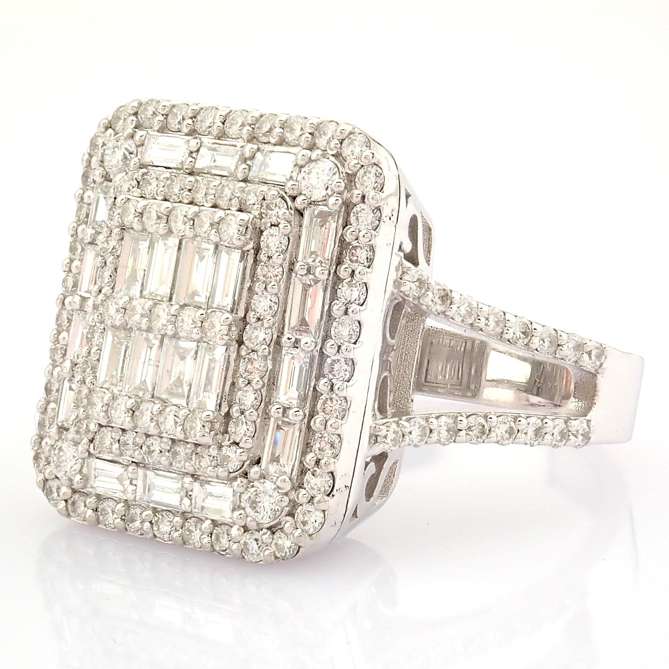 HRD Antwerp Certified 14K White Gold Diamond Ring (Total 1.25 Ct. Stone) 14K White Gold Ring - Image 3 of 9