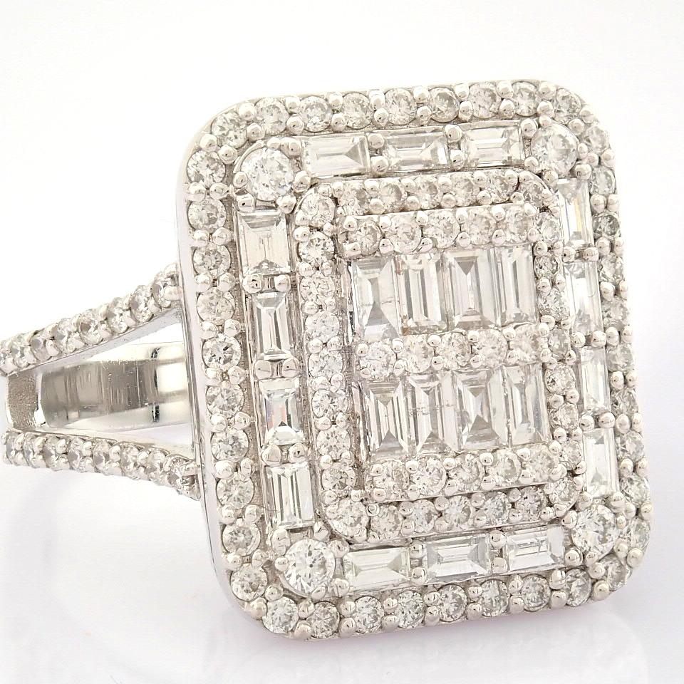 HRD Antwerp Certified 14K White Gold Diamond Ring (Total 1.25 Ct. Stone) 14K White Gold Ring - Image 2 of 9