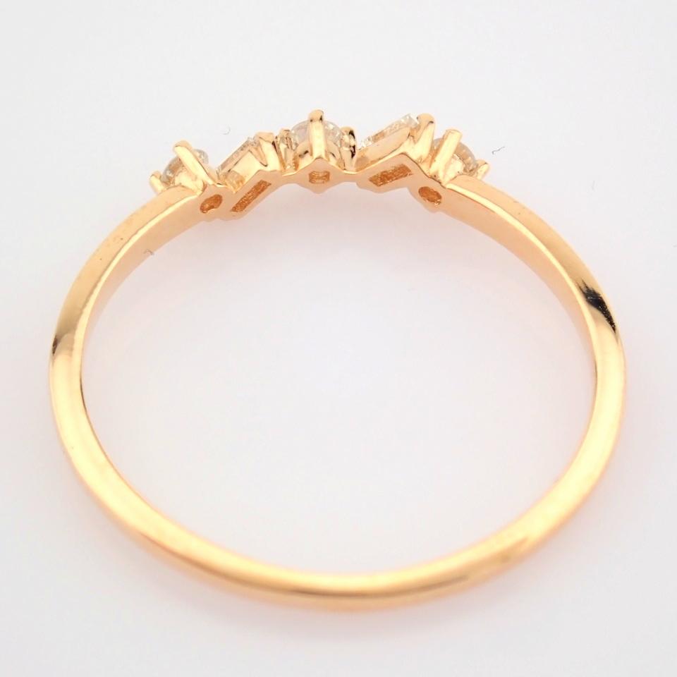 HRD Antwerp Certified 14K Rose/Pink Gold Baguette Diamond & Diamond Ring (Total 0.14 Ct. Ston... 14K - Image 4 of 9