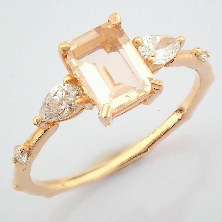 HRD Antwerp Certified 14k Rose/Pink Gold Diamond Ring (Total 0.98 Ct. Stone) 14k Rose/Pink Gold Ring