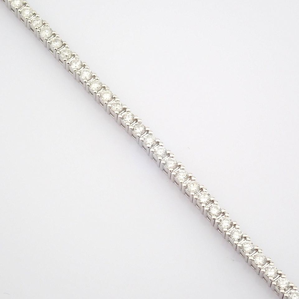 HRD Antwerp Certified 14K White Gold Diamond Bracelet (Total 2.06 Ct. Stone) 14K White Gold Bracelet - Image 3 of 10