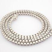 HRD Antwerp Certified 14K White Gold Diamond Necklace (Total 2.73 Ct. Stone) 14K White Gold Necklace