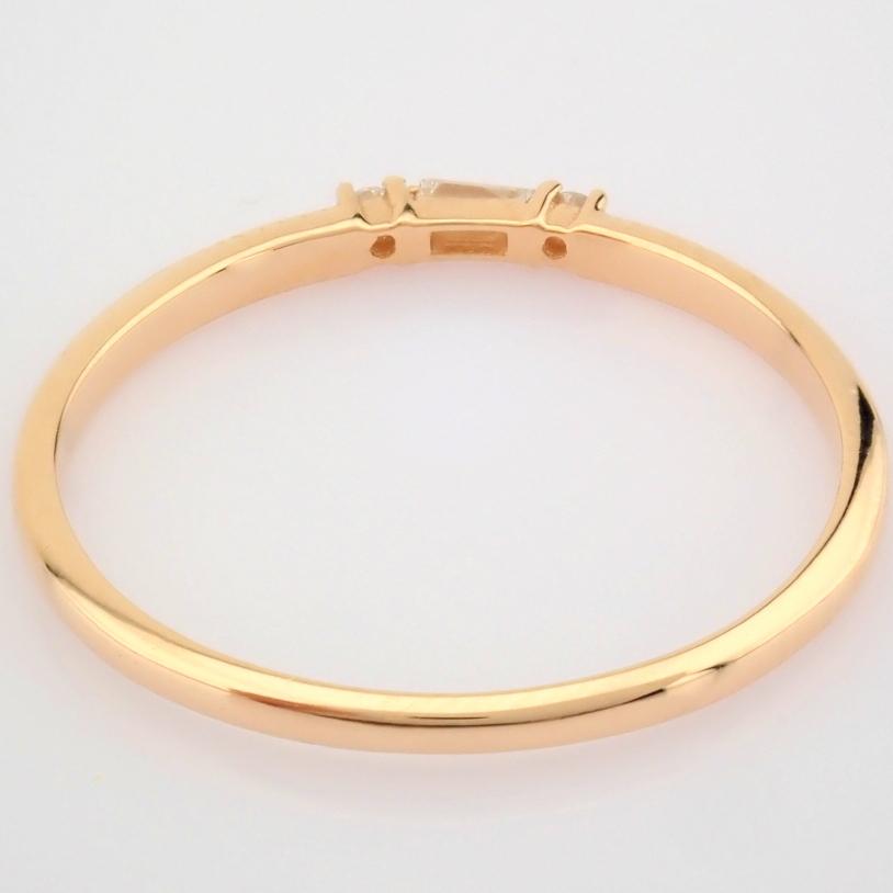 HRD Antwerp Certified 14K Rose/Pink Gold Baguette Diamond & Diamond Ring (Total 0.04 Ct. Ston... 14K - Image 4 of 9