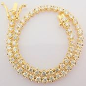 HRD Antwerp Certified 2,10 Ct. Diamond Tennis Bracelet (Crown) - 14K Yellow Gold   5.70 g Yellow
