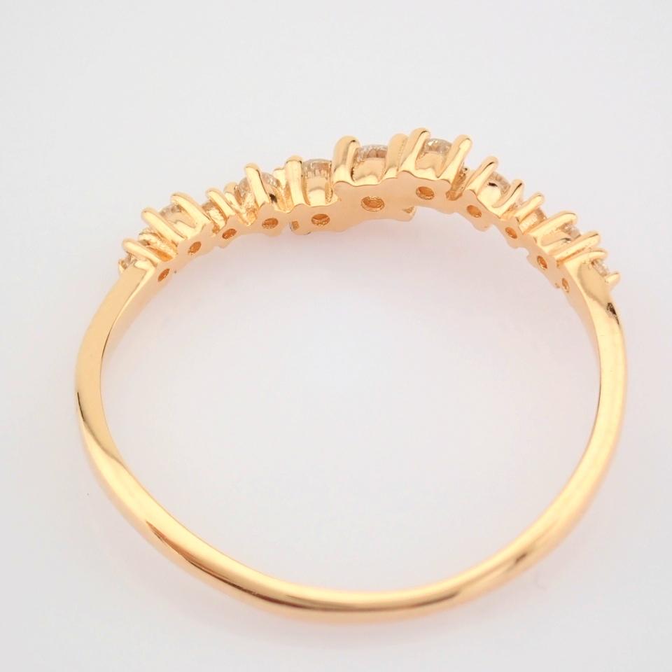 HRD Antwerp Certified 14K Rose/Pink Gold Diamond Ring (Total 0.21 Ct. Stone) 14K Rose/Pink Gold Ring - Image 9 of 10