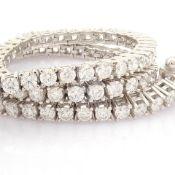 HRD Antwerp Certified 14K White Gold Diamond Bracelet (Total 2.3 Ct. Stone) 14K White Gold