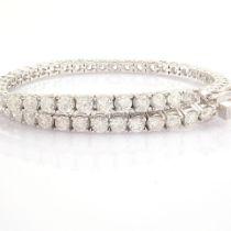 HRD Antwerp Certified 14K White Gold Diamond Bracelet (Total 4.78 Ct. Stone) 14K White Gold Bracelet