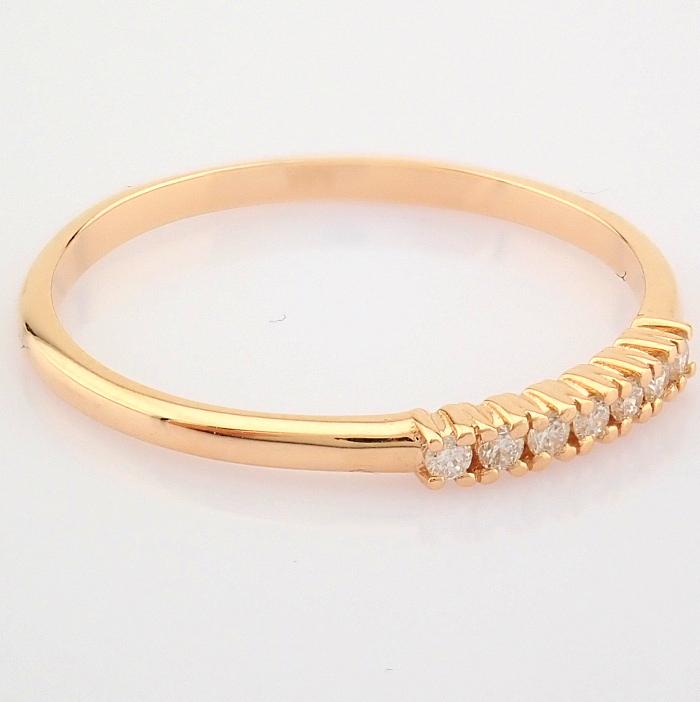 HRD Antwerp Certified 14K Rose/Pink Gold Diamond Ring (Total 0.06 Ct. Stone) 14K Rose/Pink Gold Ring - Image 5 of 9