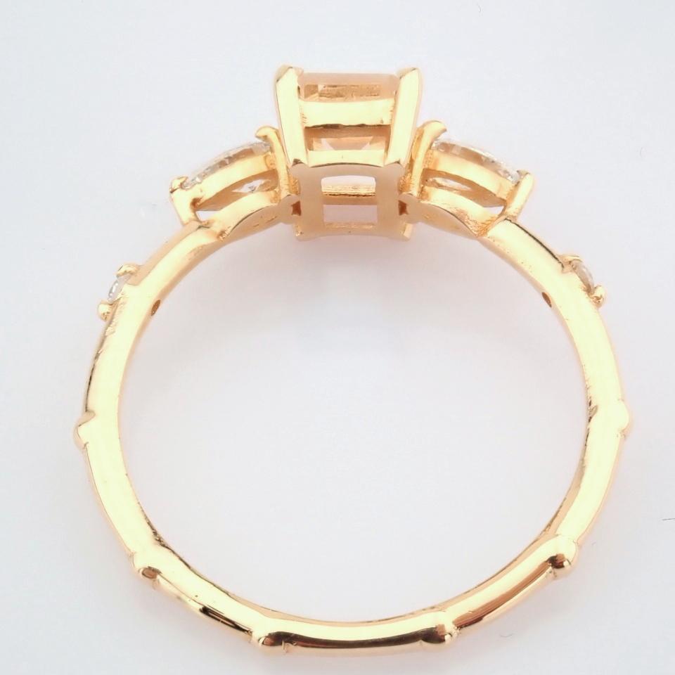 HRD Antwerp Certified 14k Rose/Pink Gold Diamond Ring (Total 0.98 Ct. Stone) 14k Rose/Pink Gold Ring - Image 8 of 11