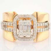 HRD Antwerp Certified 14K Rose/Pink Gold Diamond Ring (Total 0.54 Ct. Stone) 14K Rose/Pink Gold Ring