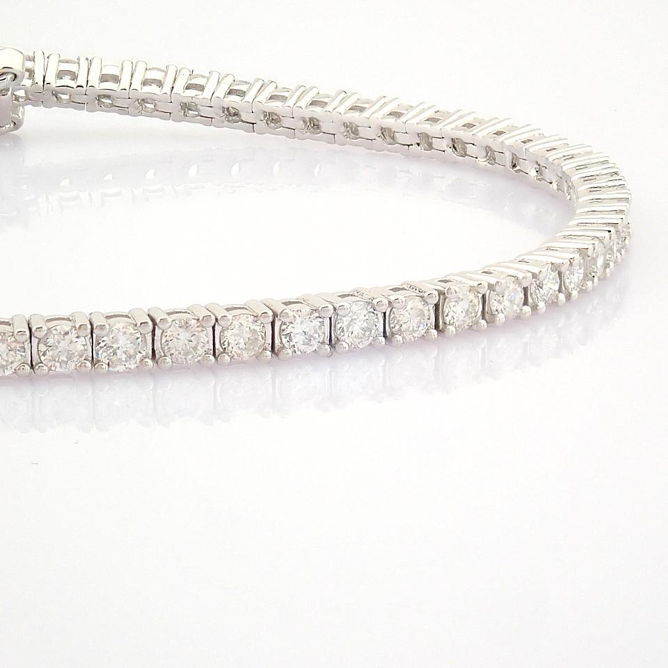 HRD Antwerp Certified 14K White Gold Diamond Bracelet (Total 2.06 Ct. Stone) 14K White Gold Bracelet - Image 8 of 10