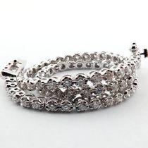 HRD Antwerp Certified 14K 0,91 Ct. Diamond Tennis Bracelet 14K   4,00 g White Gold 0,91 Ct. H/Vs