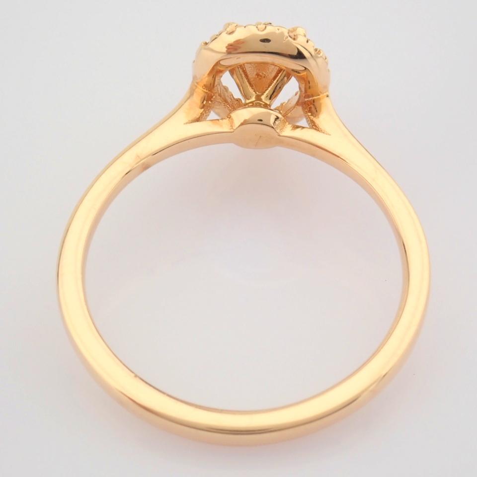 HRD Antwerp Certified 14K Rose/Pink Gold Diamond Ring (Total 0.16 Ct. Stone) 14K Rose/Pink Gold Ring - Image 2 of 7
