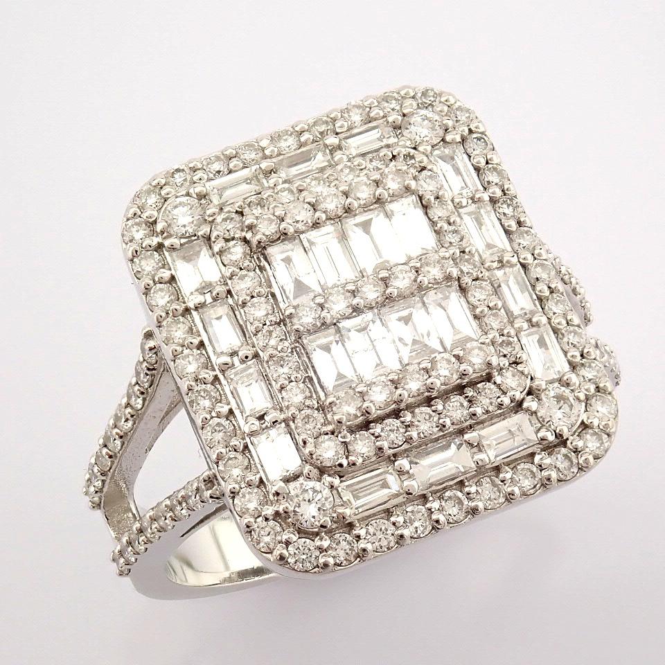 HRD Antwerp Certified 14K White Gold Diamond Ring (Total 1.25 Ct. Stone) 14K White Gold Ring - Image 5 of 9