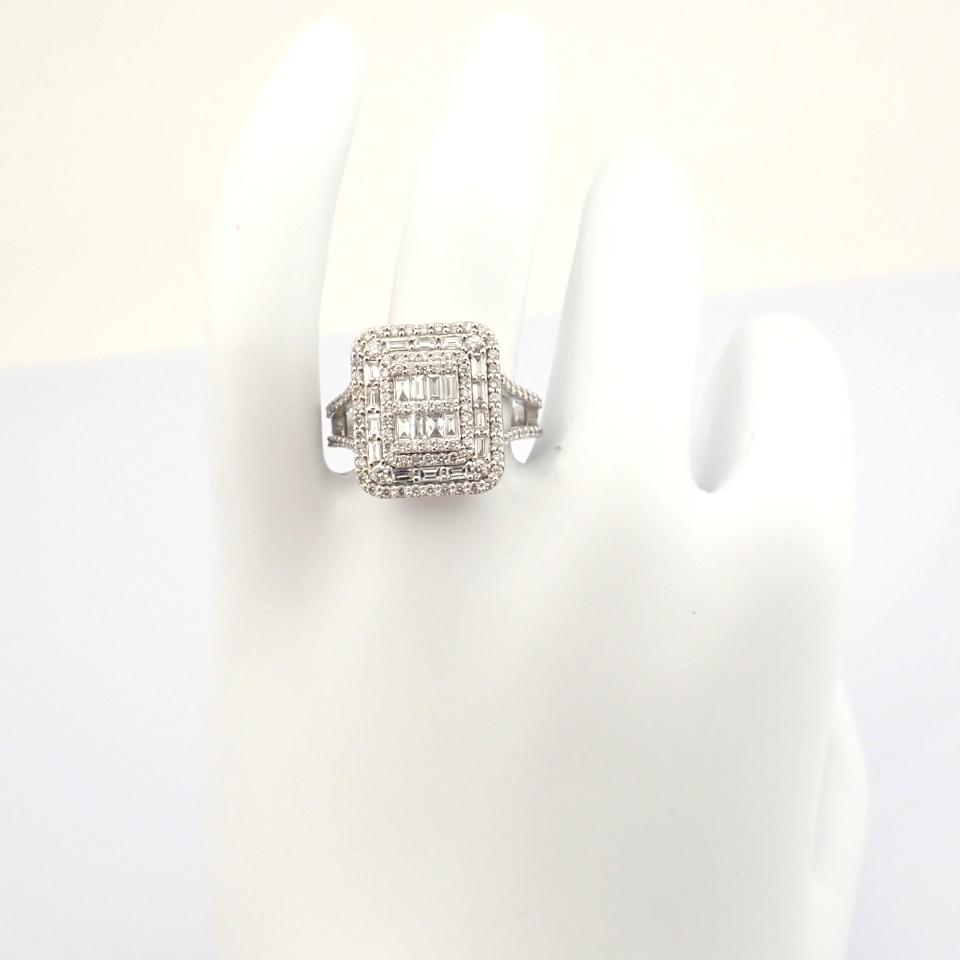HRD Antwerp Certified 14K White Gold Diamond Ring (Total 1.25 Ct. Stone) 14K White Gold Ring - Image 8 of 9