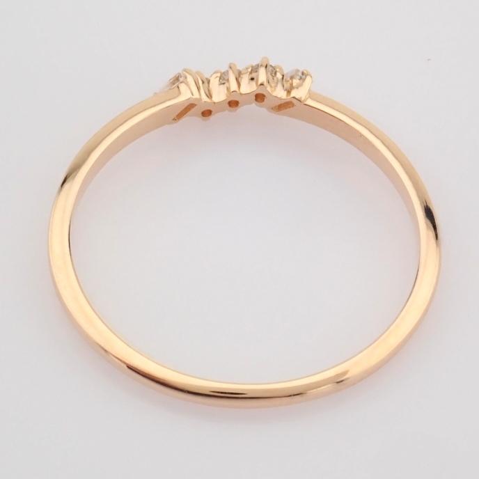 HRD Antwerp Certified 14K Rose/Pink Gold Baguette Diamond & Diamond Ring (Total 0.07 Ct. Ston... 14K - Image 5 of 8