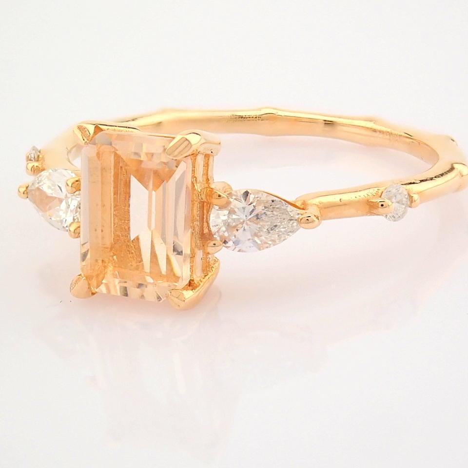 HRD Antwerp Certified 14k Rose/Pink Gold Diamond Ring (Total 0.98 Ct. Stone) 14k Rose/Pink Gold Ring - Image 11 of 11