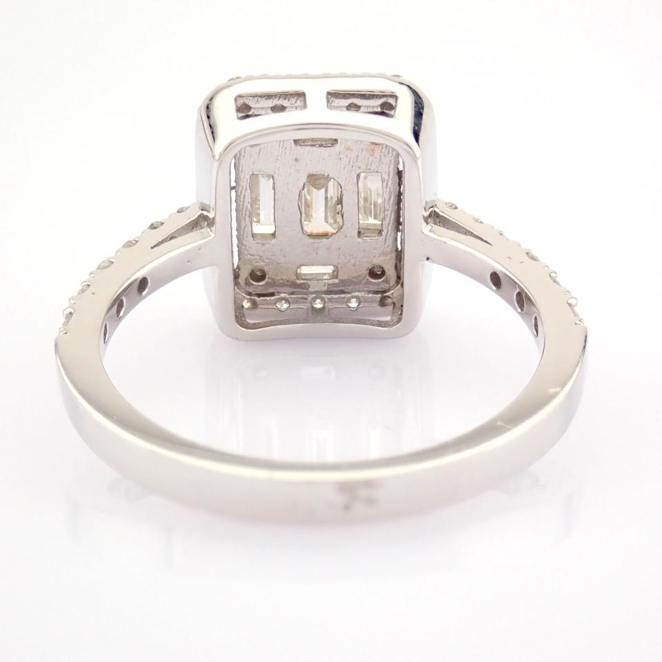 HRD Antwerp Certified 14K White Gold Diamond Ring (Total 1.11 Ct. Stone) 14K White Gold Ring - Image 8 of 12