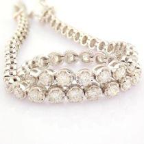 HRD Antwerp Certified 2,50 Ct. Diamond Tennis Bracelet (Crown) - 14K White Gold   8.35 g White