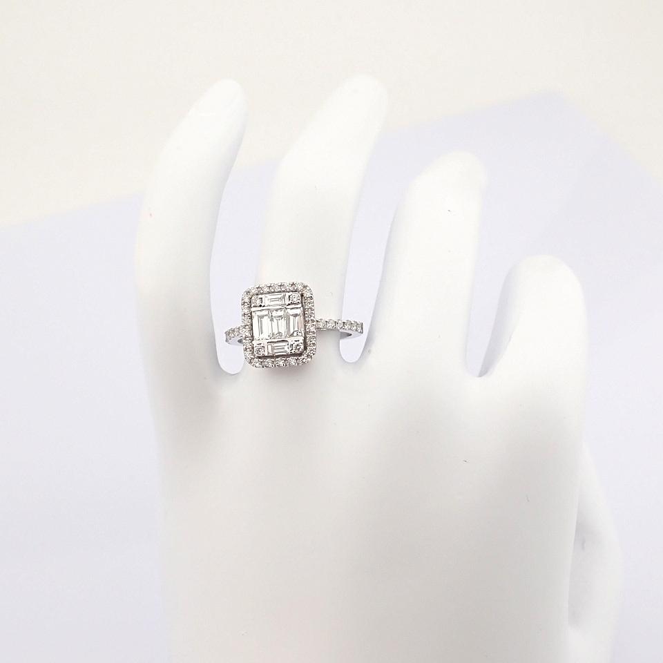 HRD Antwerp Certified 14K White Gold Diamond Ring (Total 1.11 Ct. Stone) 14K White Gold Ring - Image 3 of 12