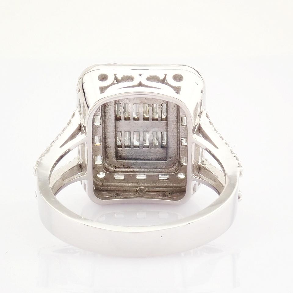HRD Antwerp Certified 14K White Gold Diamond Ring (Total 1.25 Ct. Stone) 14K White Gold Ring - Image 4 of 9