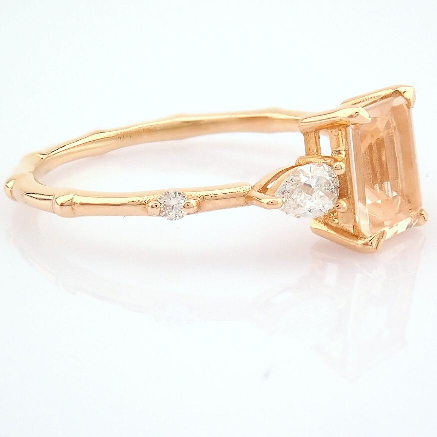 HRD Antwerp Certified 14k Rose/Pink Gold Diamond Ring (Total 0.98 Ct. Stone) 14k Rose/Pink Gold Ring - Image 9 of 11