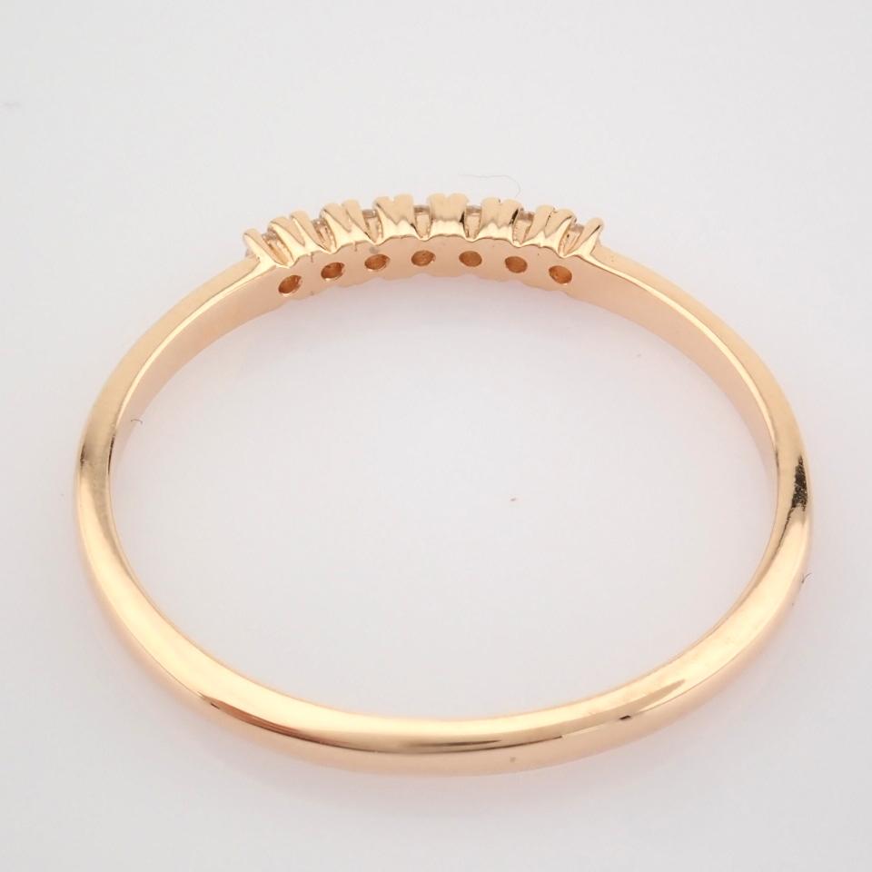 HRD Antwerp Certified 14K Rose/Pink Gold Diamond Ring (Total 0.06 Ct. Stone) 14K Rose/Pink Gold Ring - Image 8 of 9