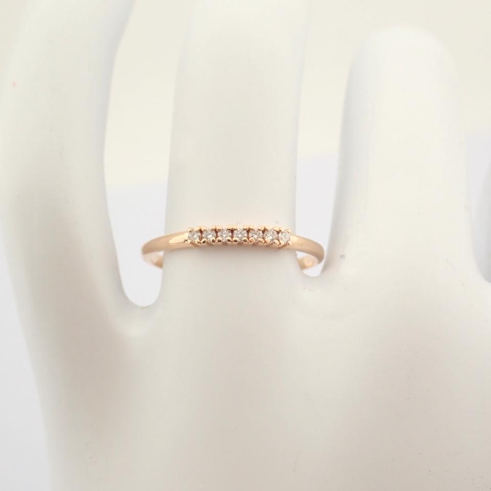 HRD Antwerp Certified 14K Rose/Pink Gold Diamond Ring (Total 0.06 Ct. Stone) 14K Rose/Pink Gold Ring - Image 9 of 9