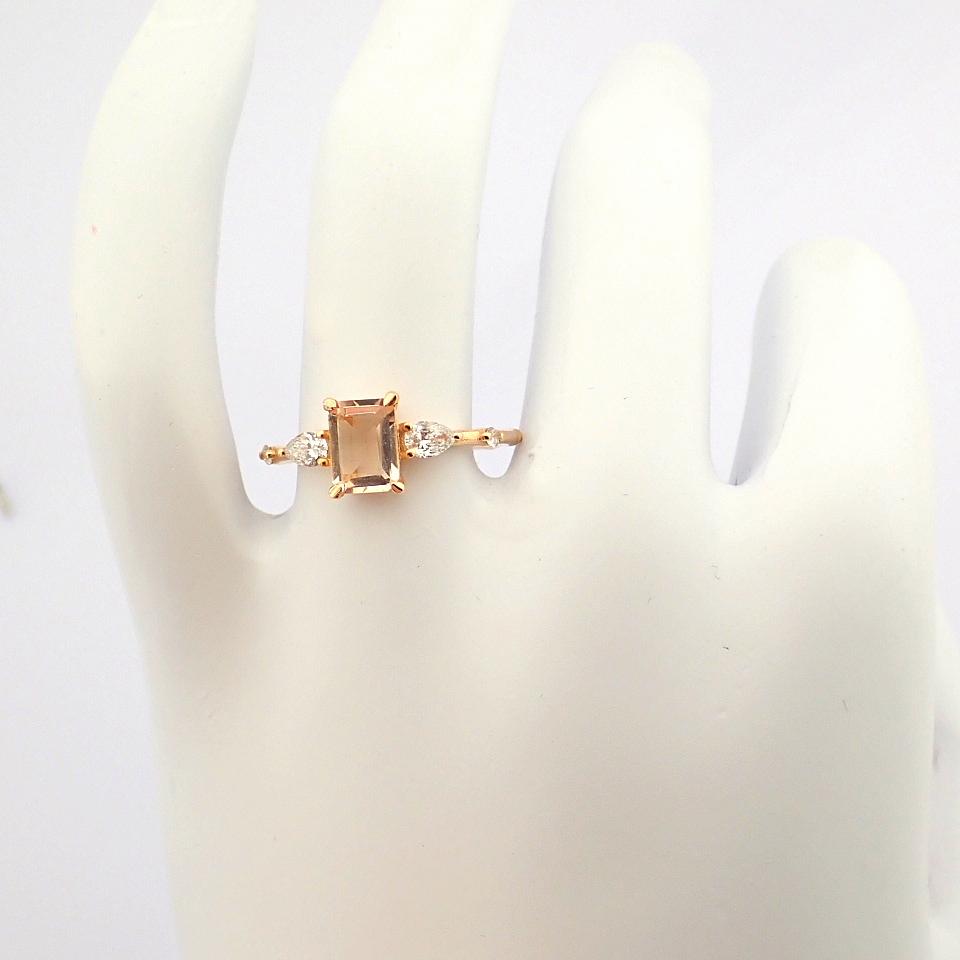 HRD Antwerp Certified 14k Rose/Pink Gold Diamond Ring (Total 0.98 Ct. Stone) 14k Rose/Pink Gold Ring - Image 3 of 11