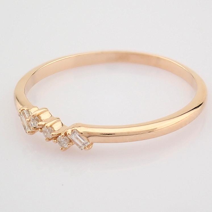 HRD Antwerp Certified 14K Rose/Pink Gold Baguette Diamond & Diamond Ring (Total 0.07 Ct. Ston... 14K - Image 2 of 8