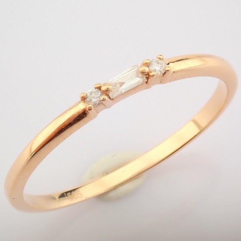 HRD Antwerp Certified 14K Rose/Pink Gold Baguette Diamond & Diamond Ring (Total 0.04 Ct. Ston... 14K - Image 8 of 9