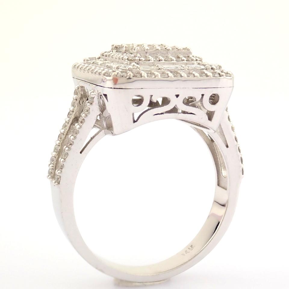 HRD Antwerp Certified 14K White Gold Diamond Ring (Total 1.25 Ct. Stone) 14K White Gold Ring - Image 6 of 9