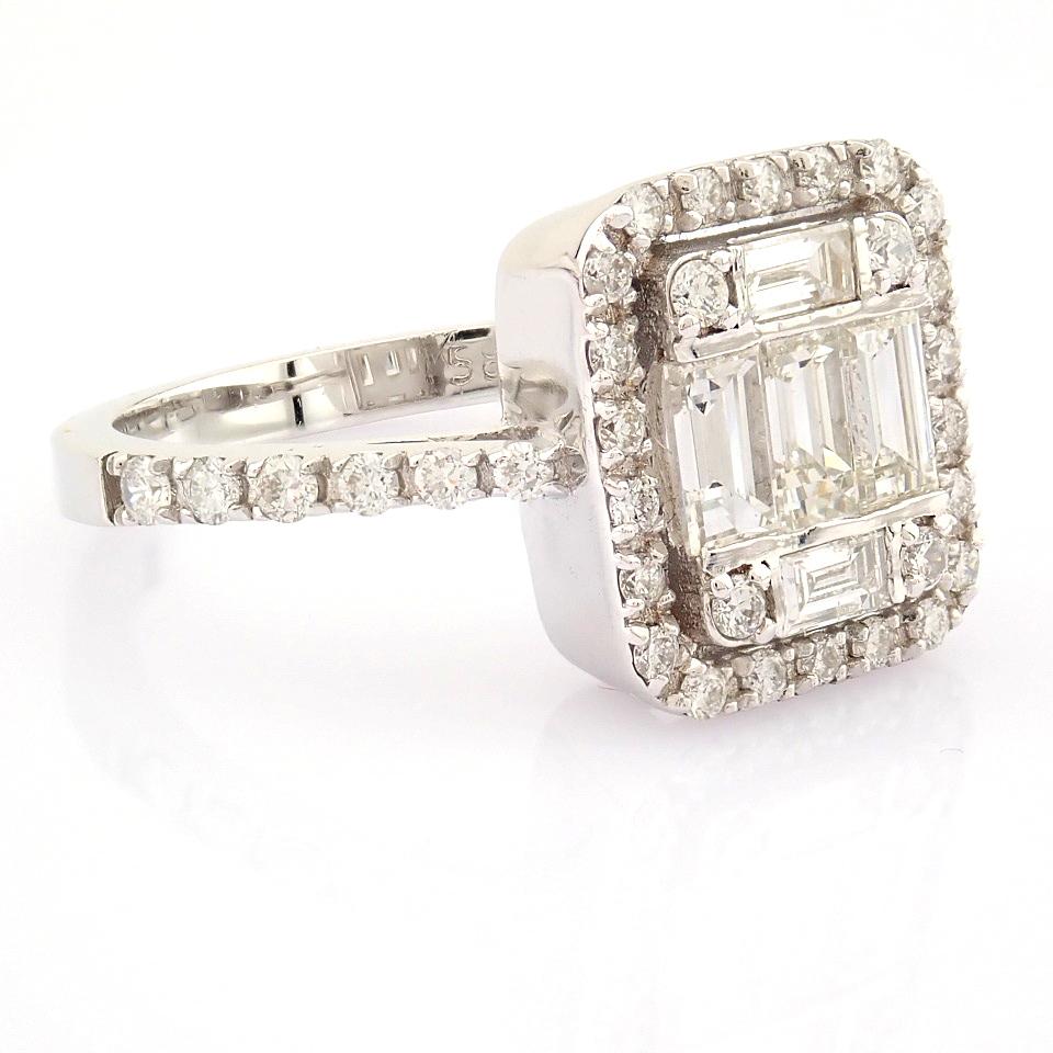 HRD Antwerp Certified 14K White Gold Diamond Ring (Total 1.11 Ct. Stone) 14K White Gold Ring - Image 6 of 12