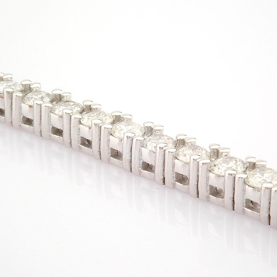 HRD Antwerp Certified 14K White Gold Diamond Bracelet (Total 2.06 Ct. Stone) 14K White Gold Bracelet - Image 10 of 10